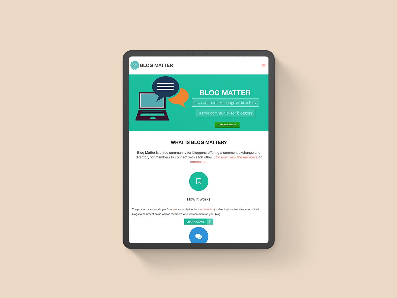 Blog Matter Logo & Website