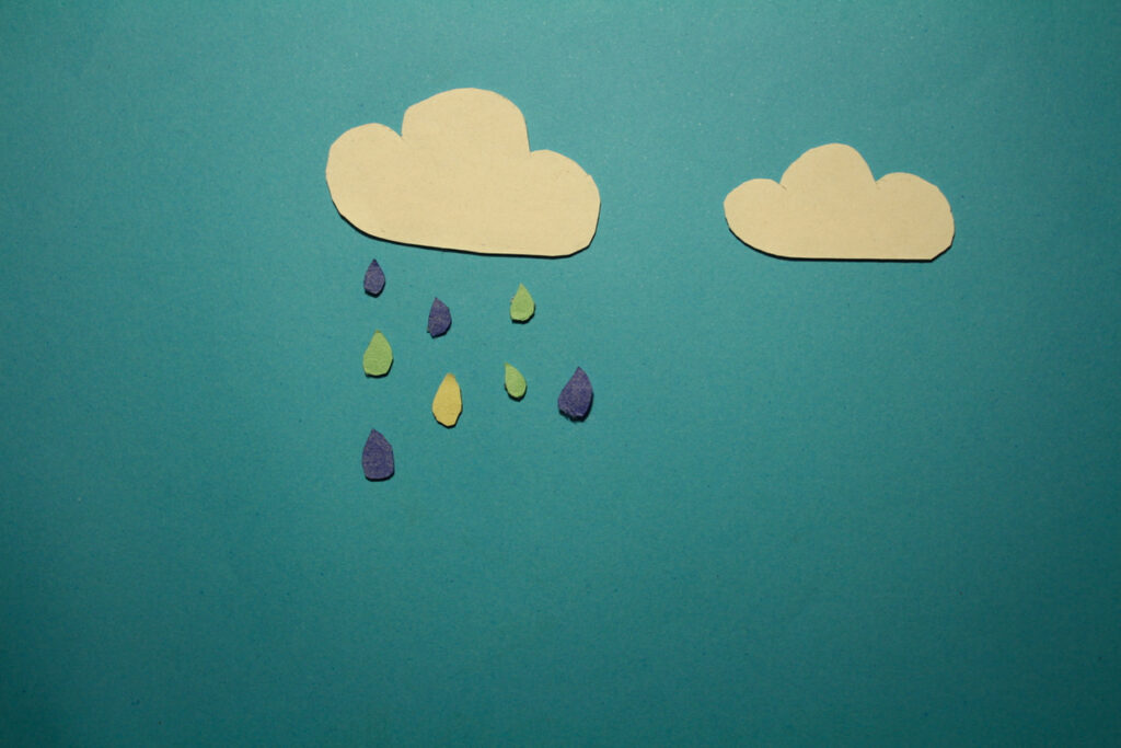 Rain Clouds Stop Motion Animation