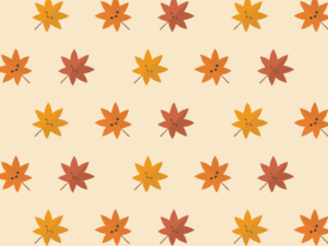 Cute Kawaii Autumn Leaves