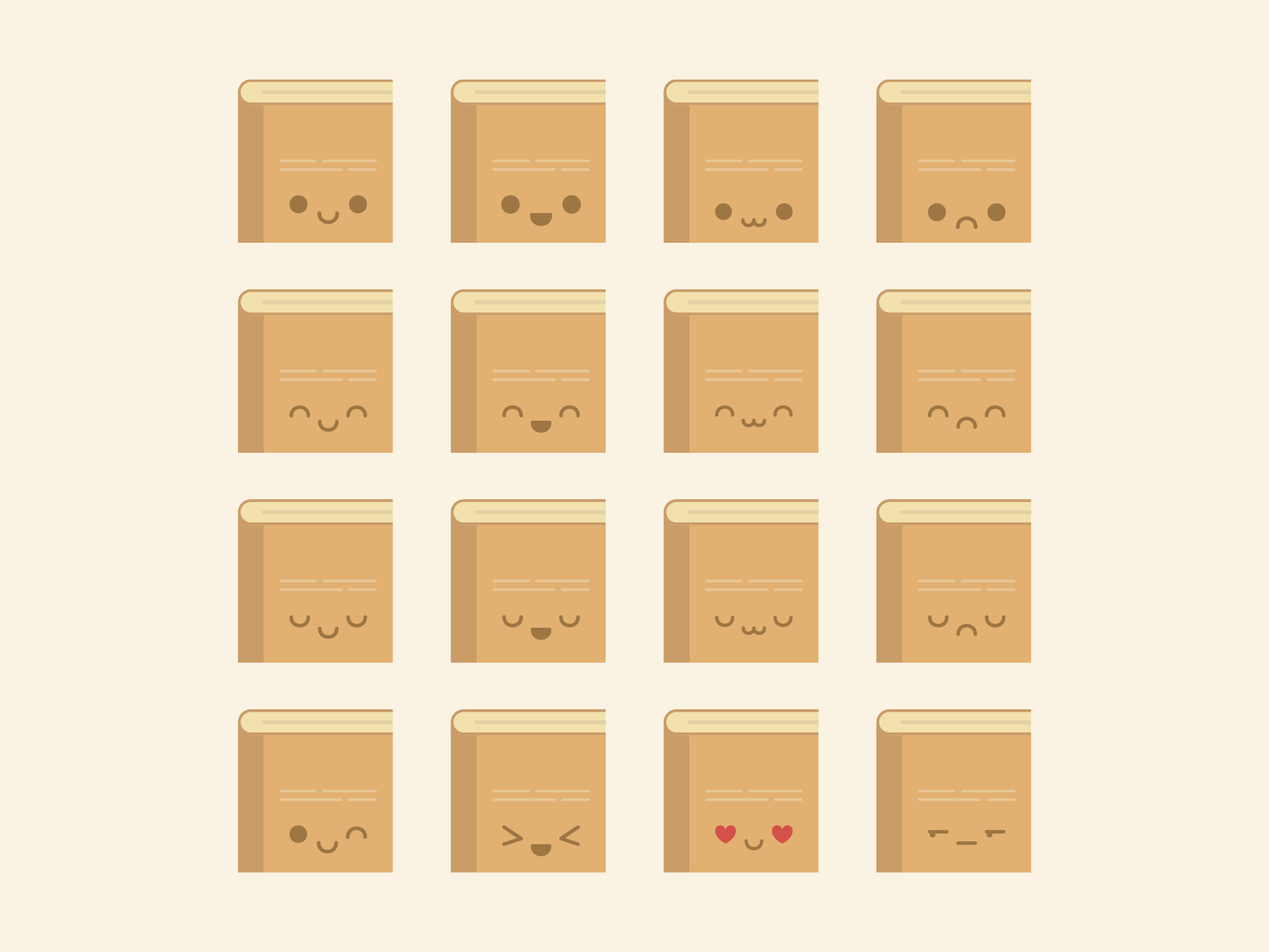 Cute Kawaii Book Emoji