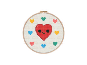 Love Hearts Cross Stitch Pattern