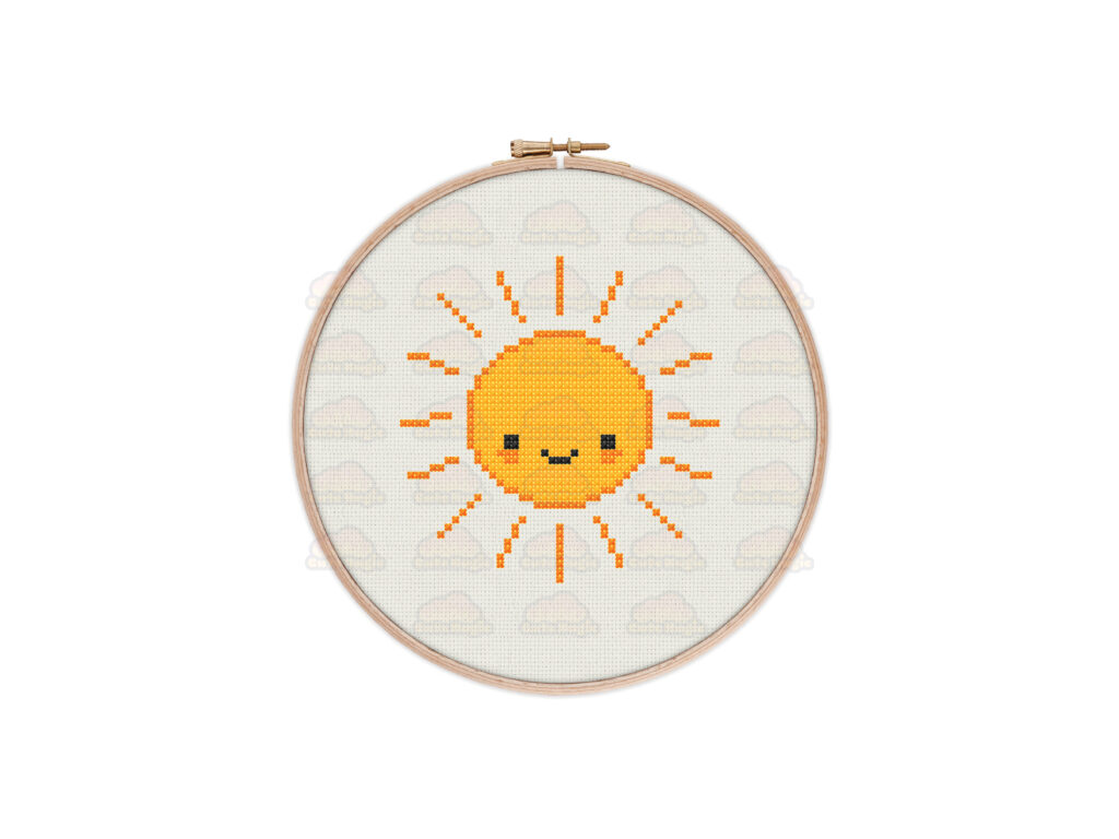 Sun Cross Stitch Pattern