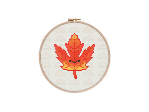 Autumn Leaf Cross Stitch Pattern