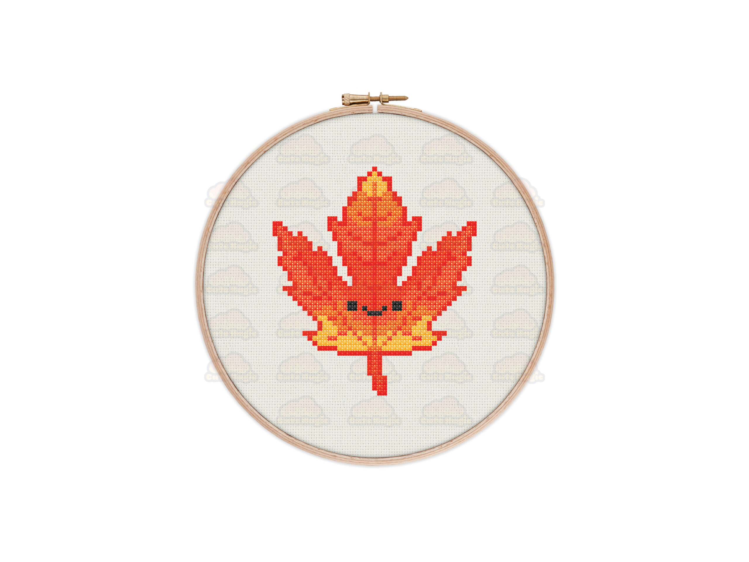 Autumn Leaf Cross Stitch Pattern