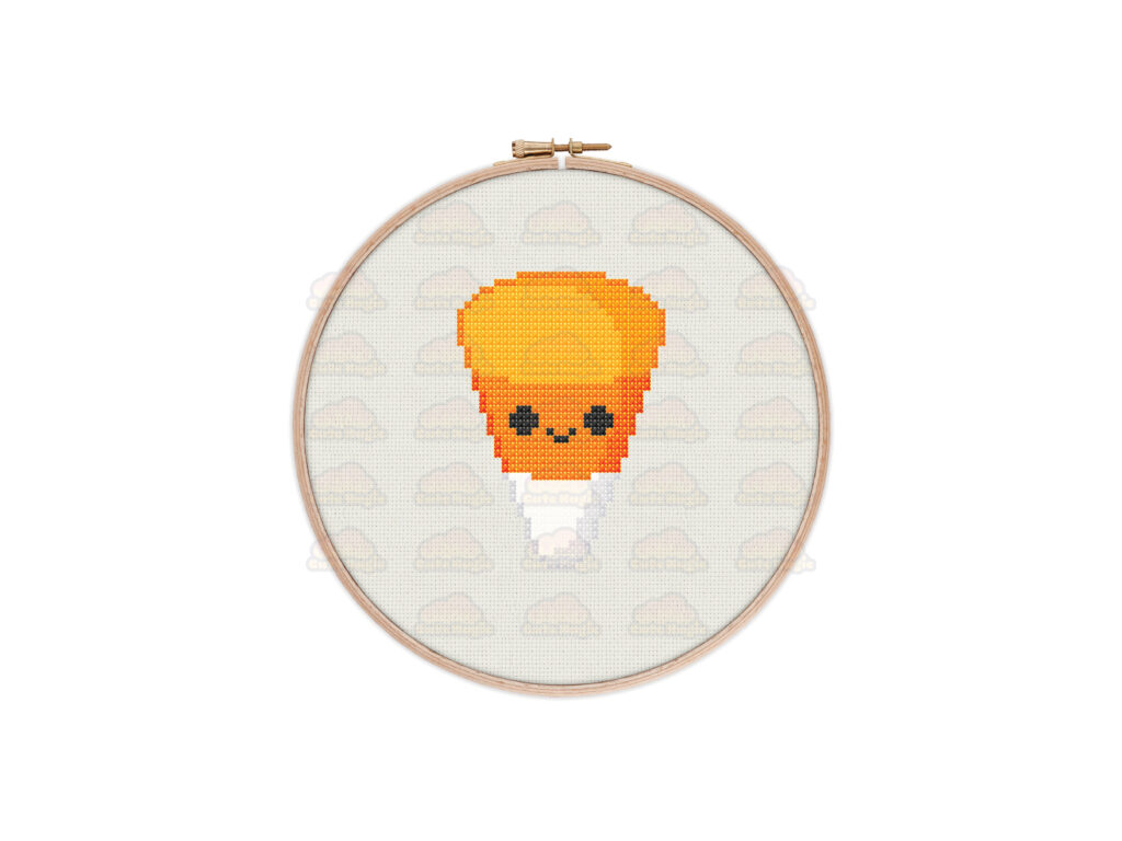 Candy Corn Cross Stitch Pattern