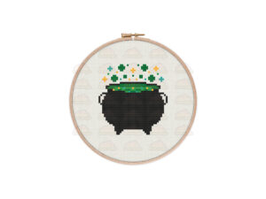 Cauldron Cross Stitch Pattern