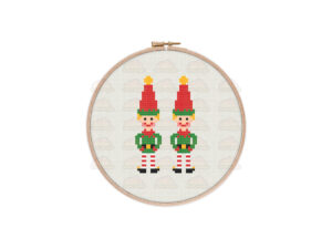 Christmas Elves Cross Stitch Pattern