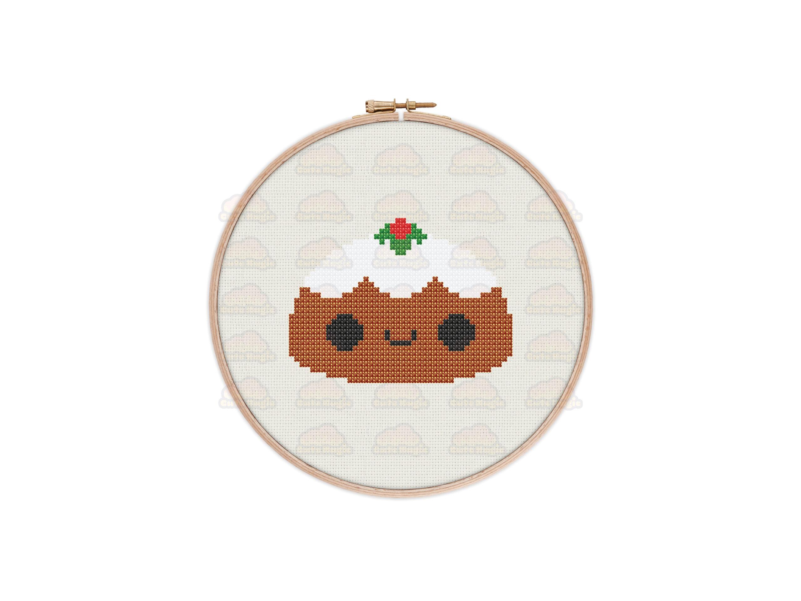 Christmas Pudding Cross Stitch Pattern
