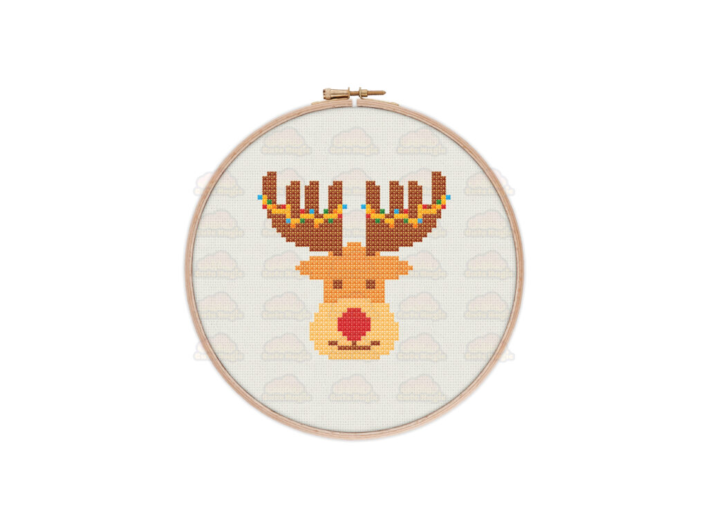 Christmas Reindeer Cross Stitch Pattern