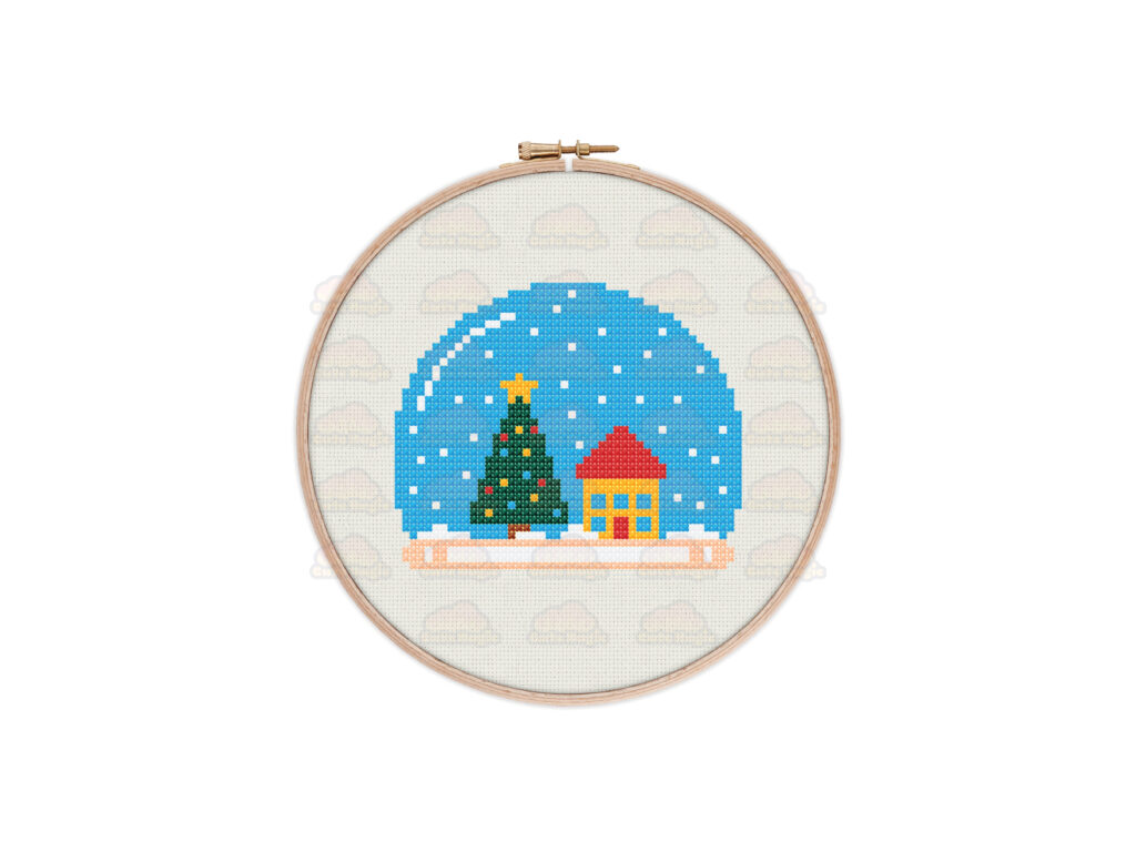 Christmas Snow Globe Cross Stitch Pattern