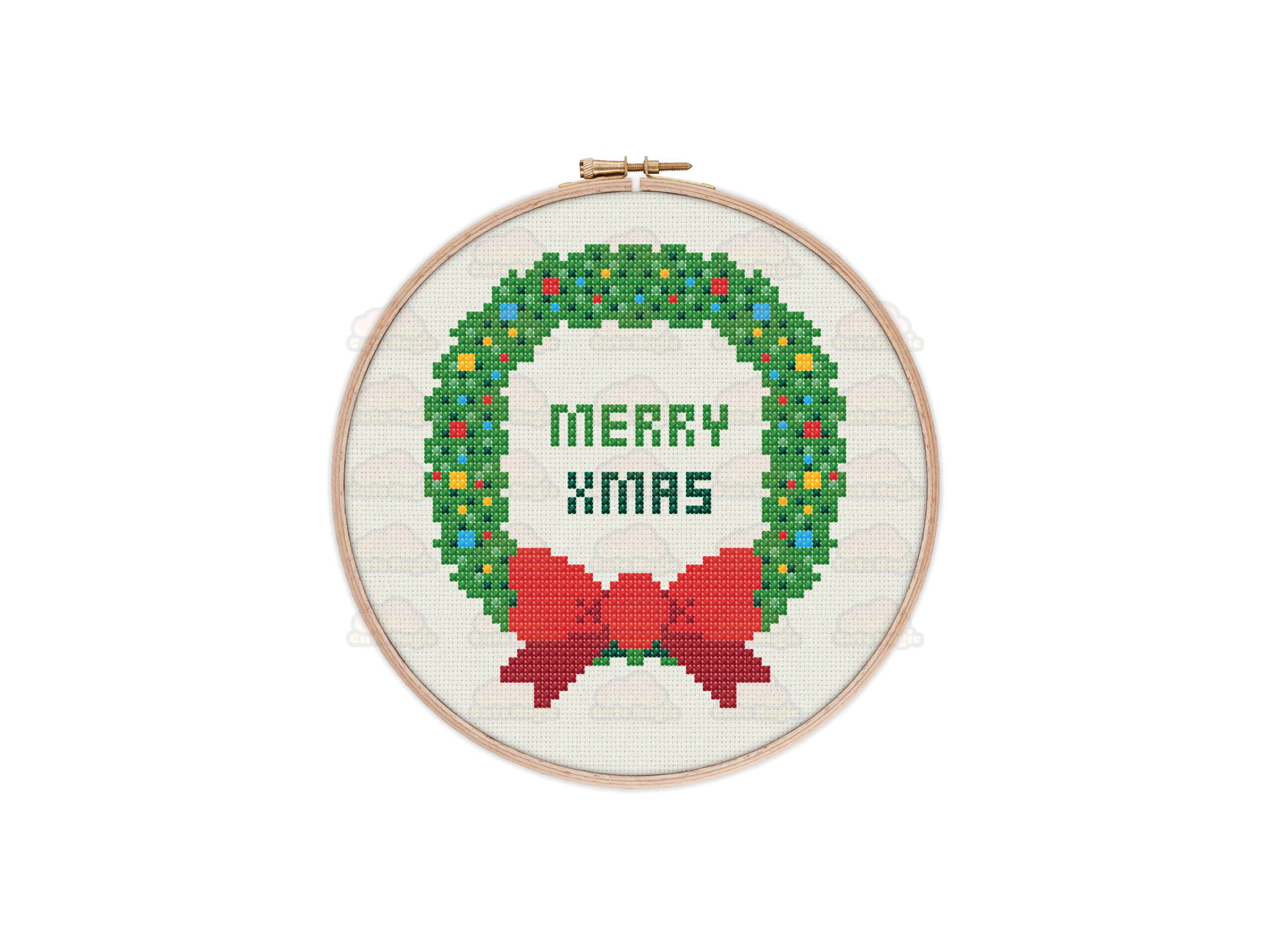 Christmas Wreath Cross Stitch Pattern