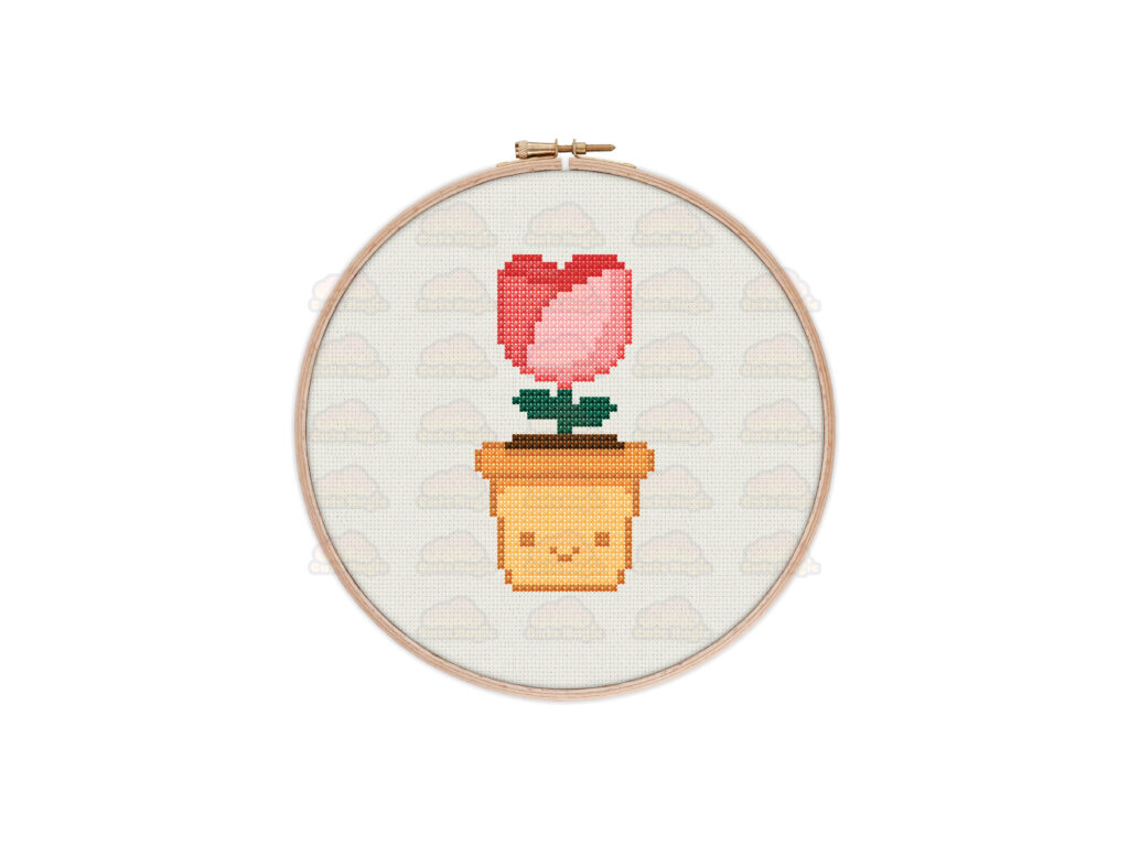 Flower Cross Stitch Pattern