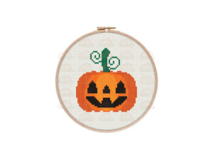 Jack O'Lantern Cross Stitch Pattern