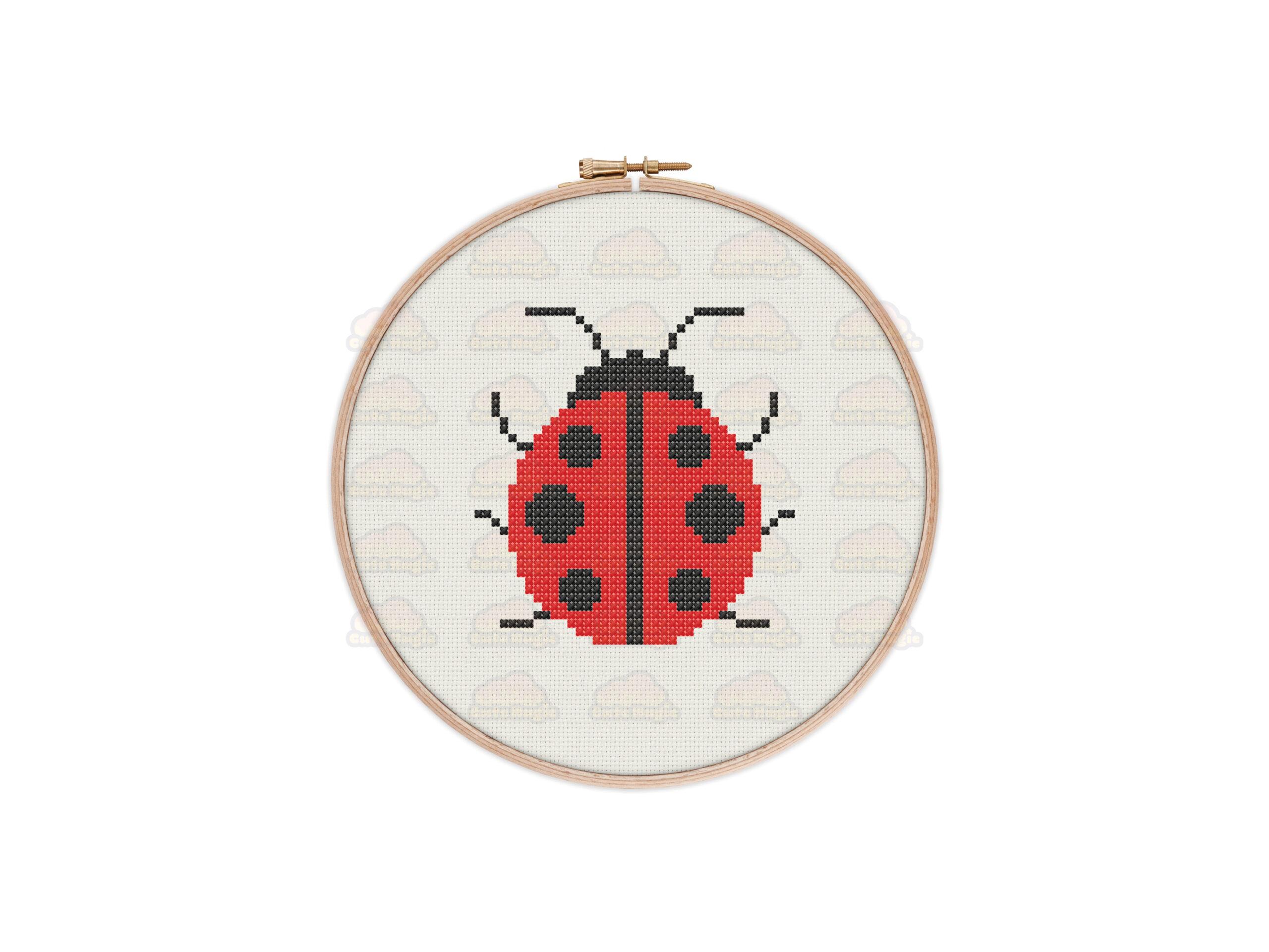 Ladybug Cross Stitch Pattern