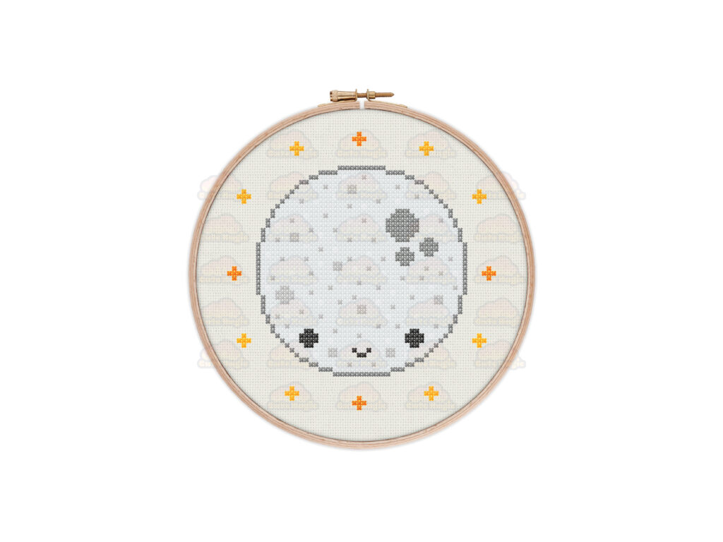 Moon Cross Stitch Pattern