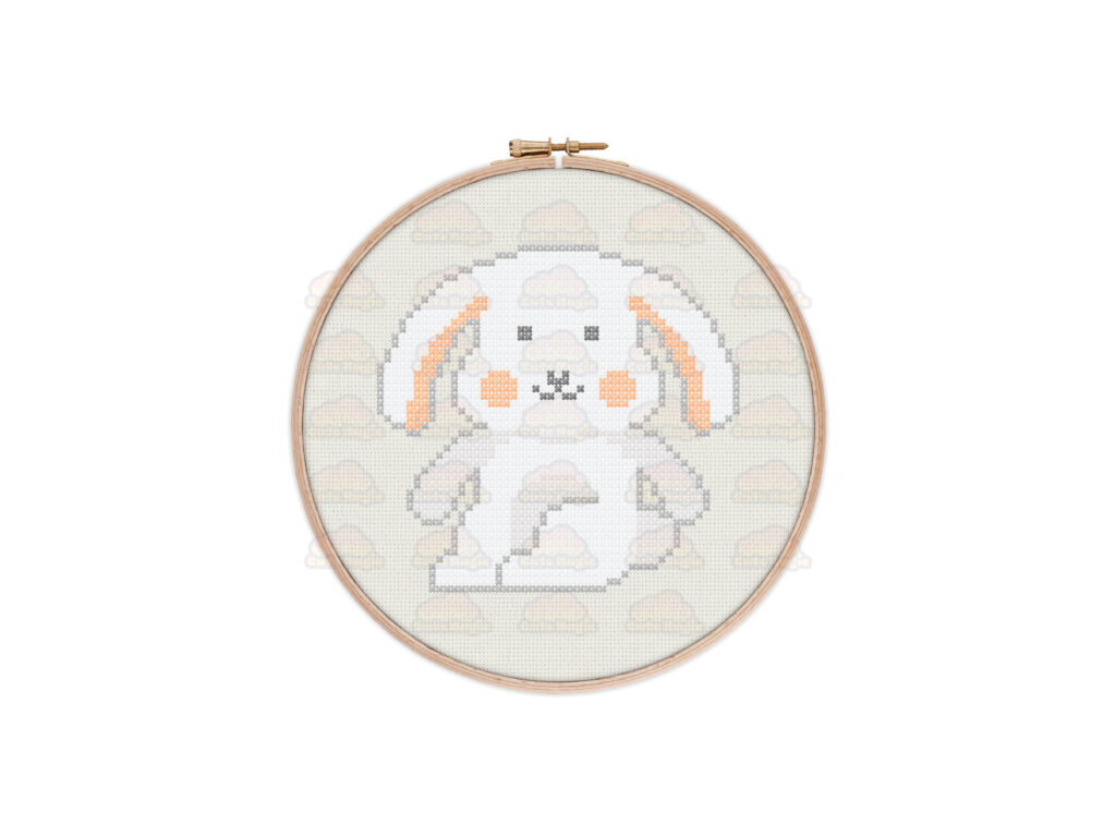 Rabbit Cross Stitch Pattern