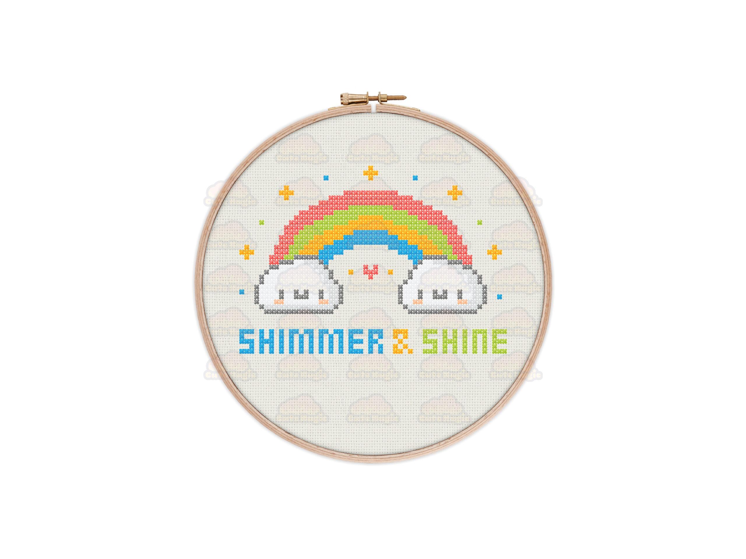 Rainbow Cross Stitch Pattern