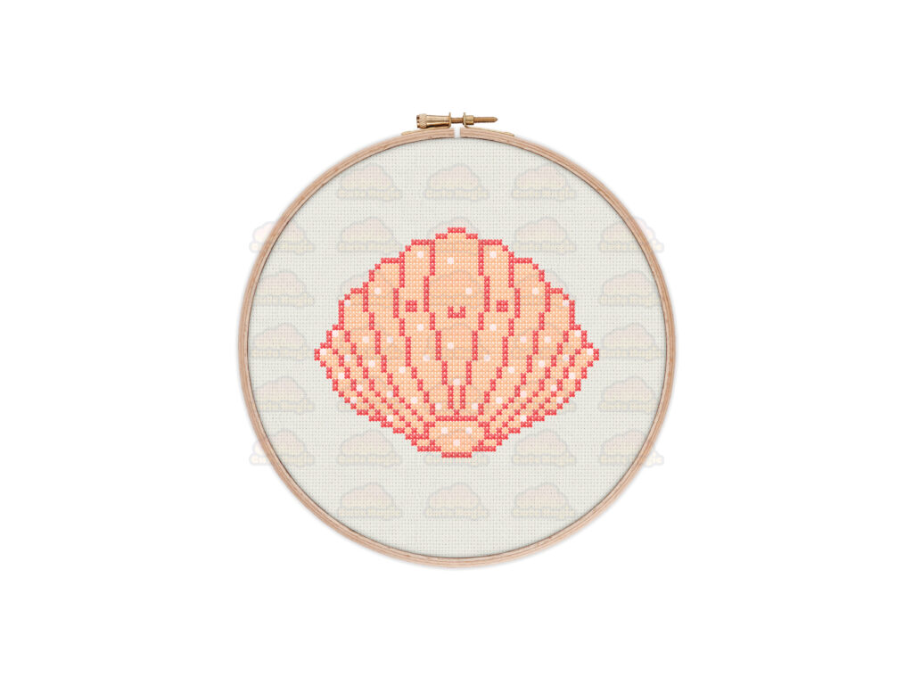 Seashell Cross Stitch Pattern