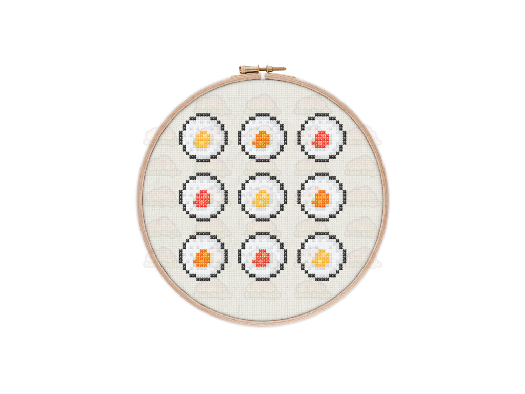 Sushi Cross Stitch Pattern