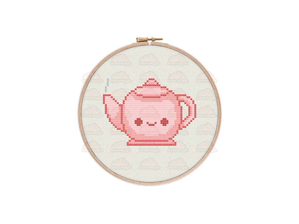Teapot Cross Stitch Pattern