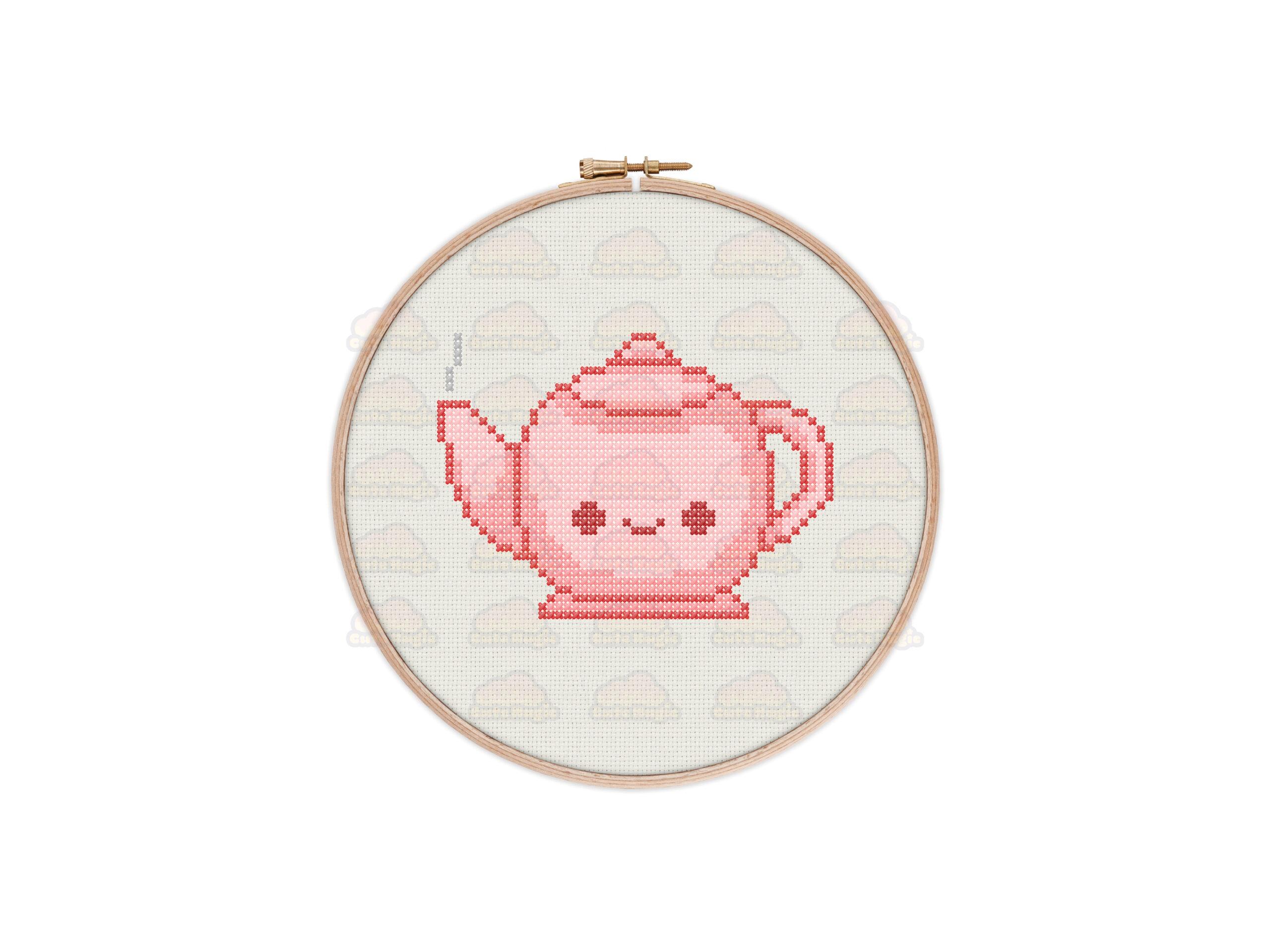 Teapot Cross Stitch Pattern