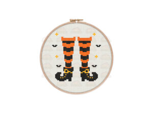 Witchy Feet Cross Stitch Pattern