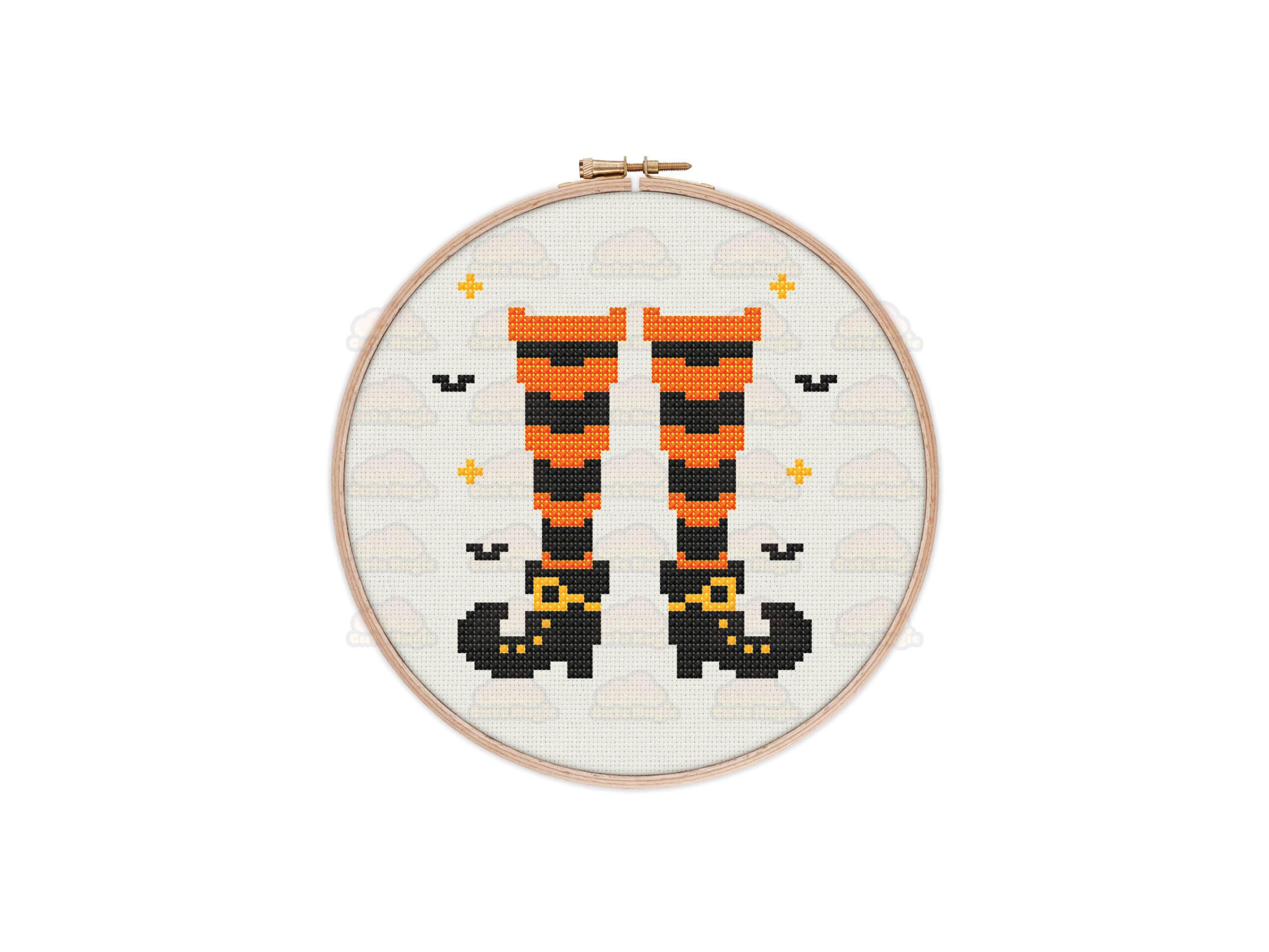 Witchy Feet Cross Stitch Pattern