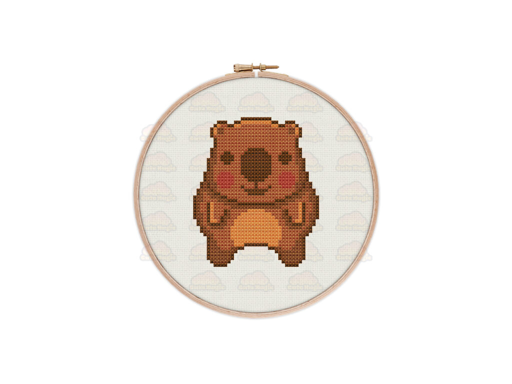 Wombat Cross Stitch Pattern