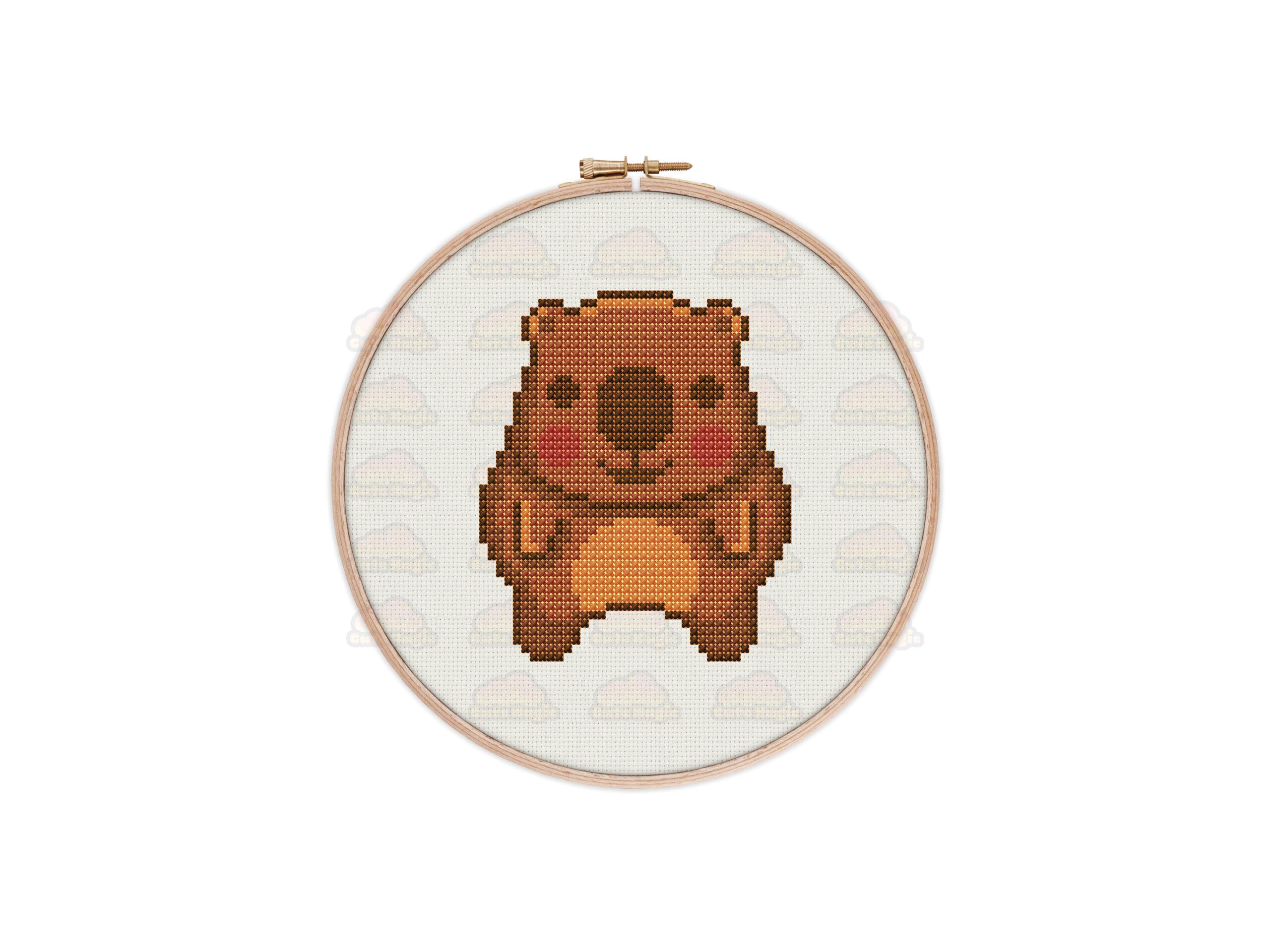 Wombat Cross Stitch Pattern