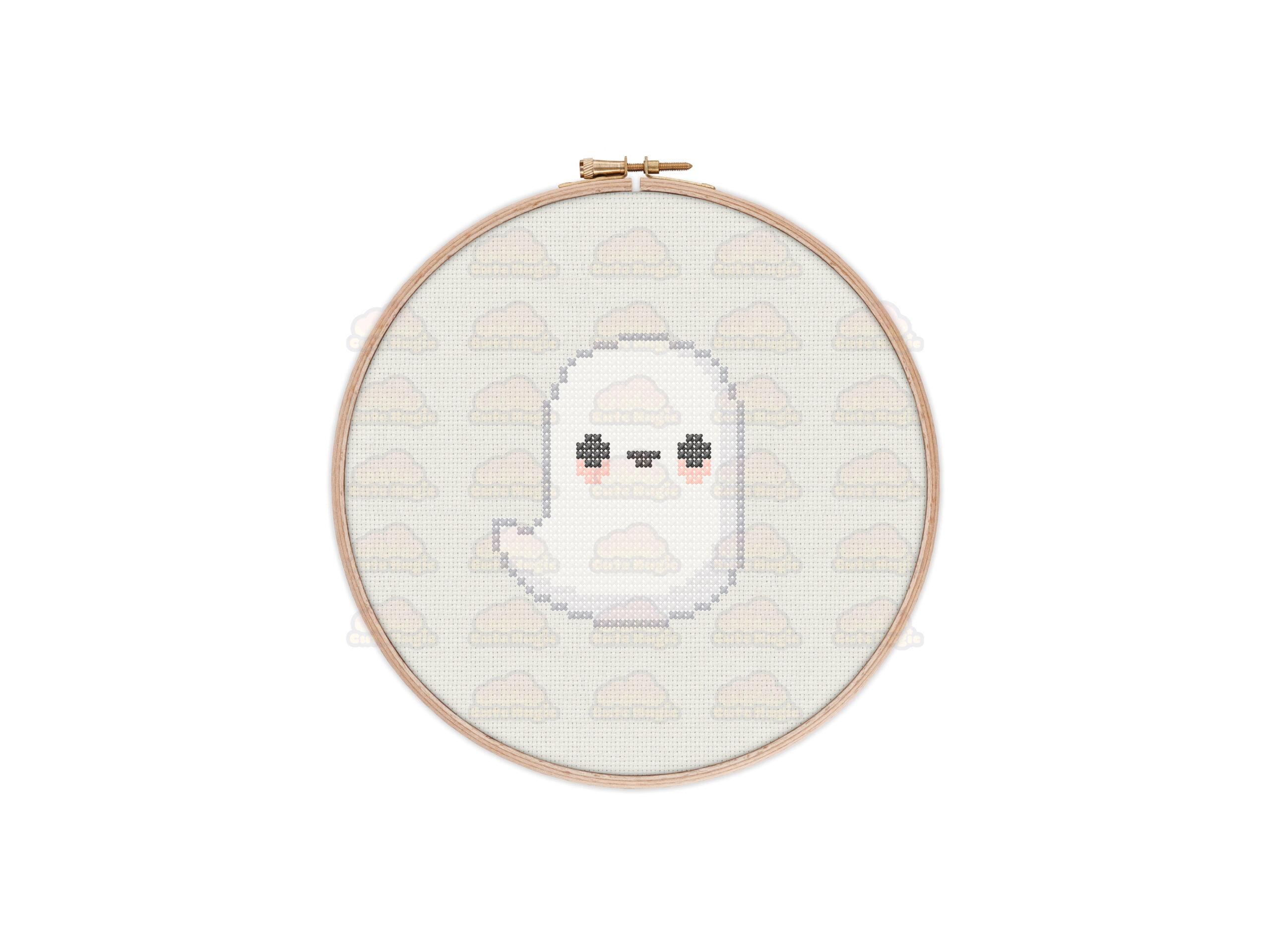 Ghost Cross Stitch Pattern