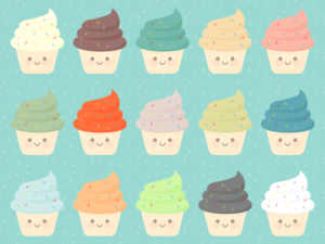Cute Kawaii Cupcakes