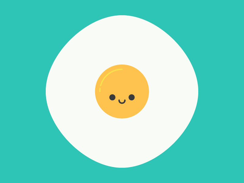 Cute Kawaii Fried Egg