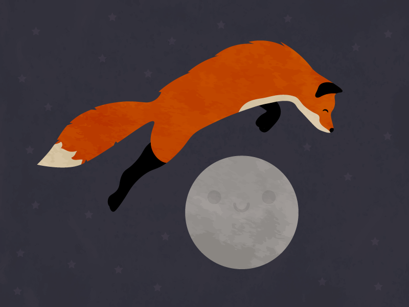 A Fox Jumps Over The Moon