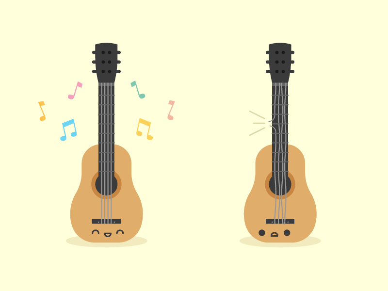 Cute Kawaii Guitars