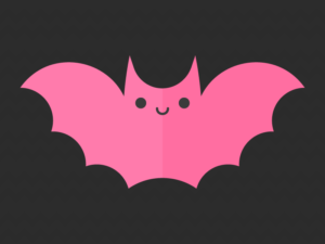 Cute Kawaii Pink Bat