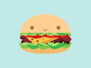 Cute Kawaii Hamburger