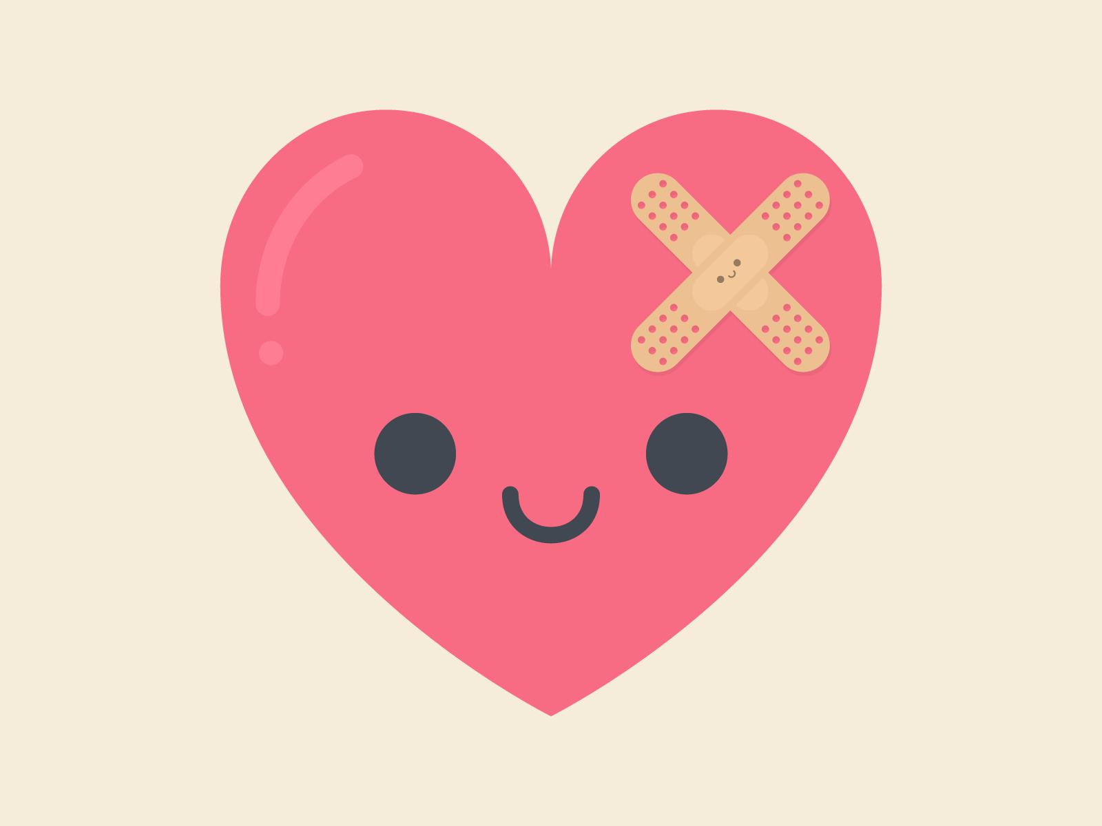 Cute Kawaii Healing Heart