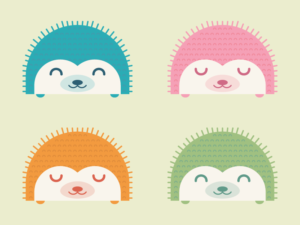 Cute Kawaii Hedgehogs