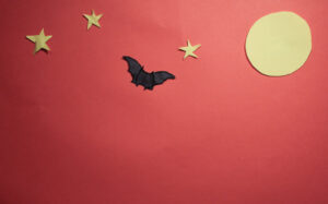 Bat On The Moon Stop Motion Animation