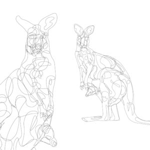 Continuous Line Kangaroos