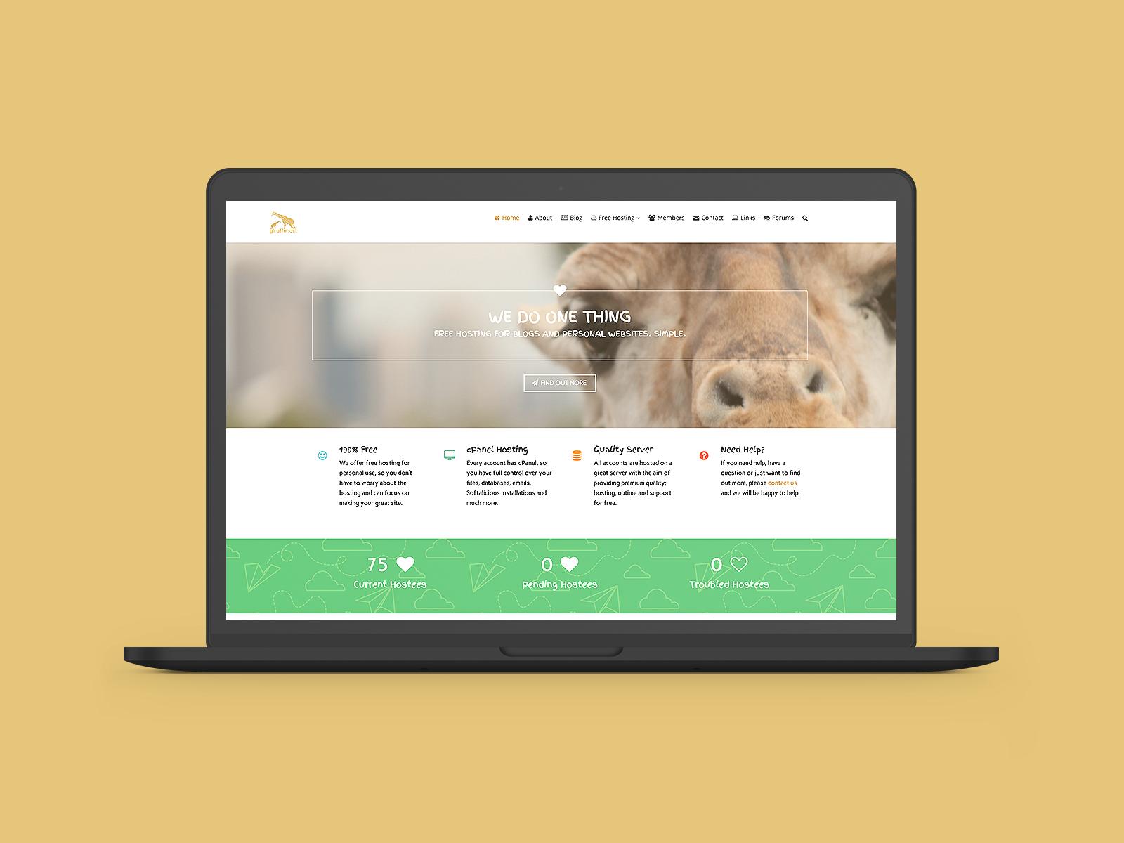 Giraffe Host Logo & Website