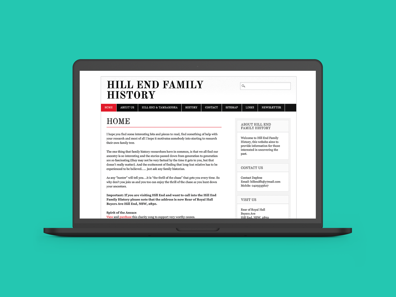 Hill End Family History Website