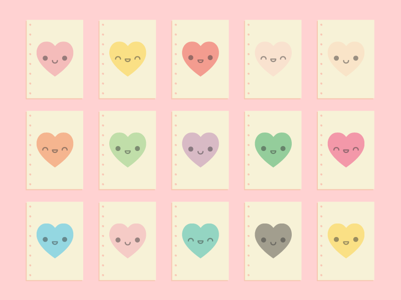 Cute Kawaii Love Letters