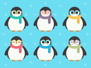Cute Kawaii Penguins