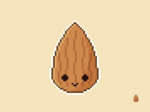 Cute Kawaii Almond Pixel