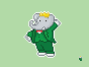 Babar the Elephant Pixel