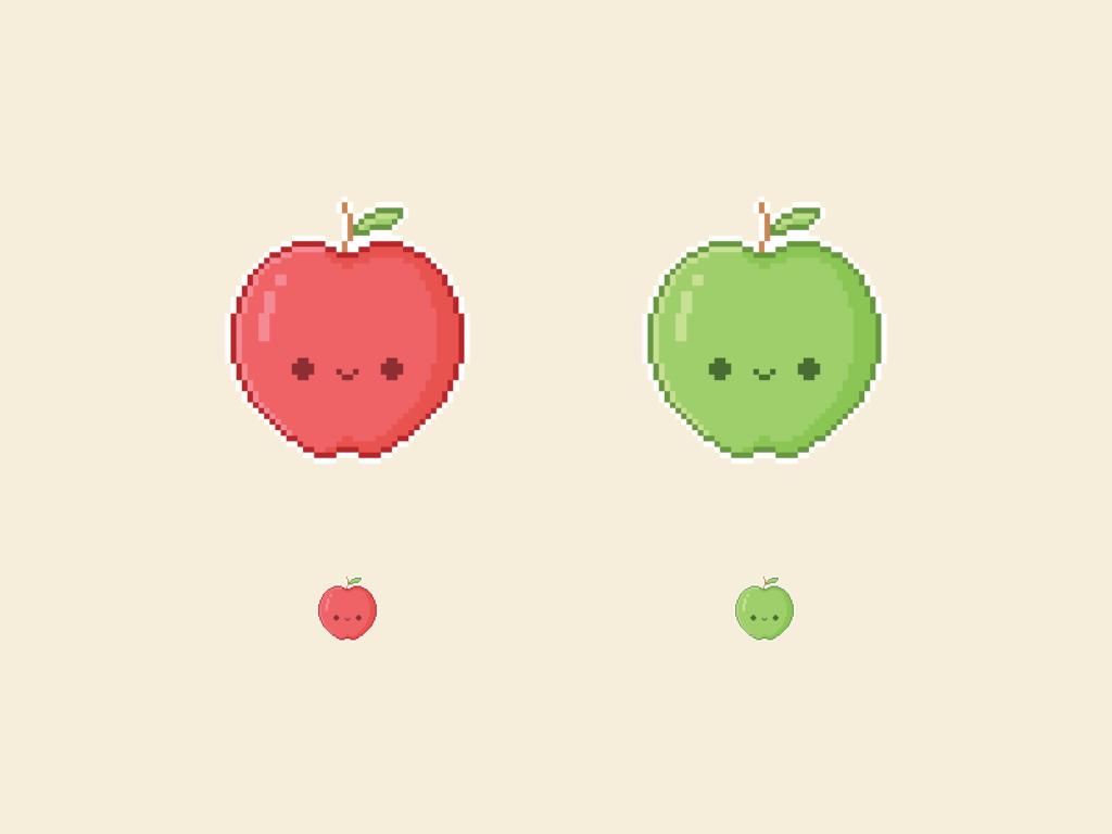 Cute Kawaii Apple Pixel