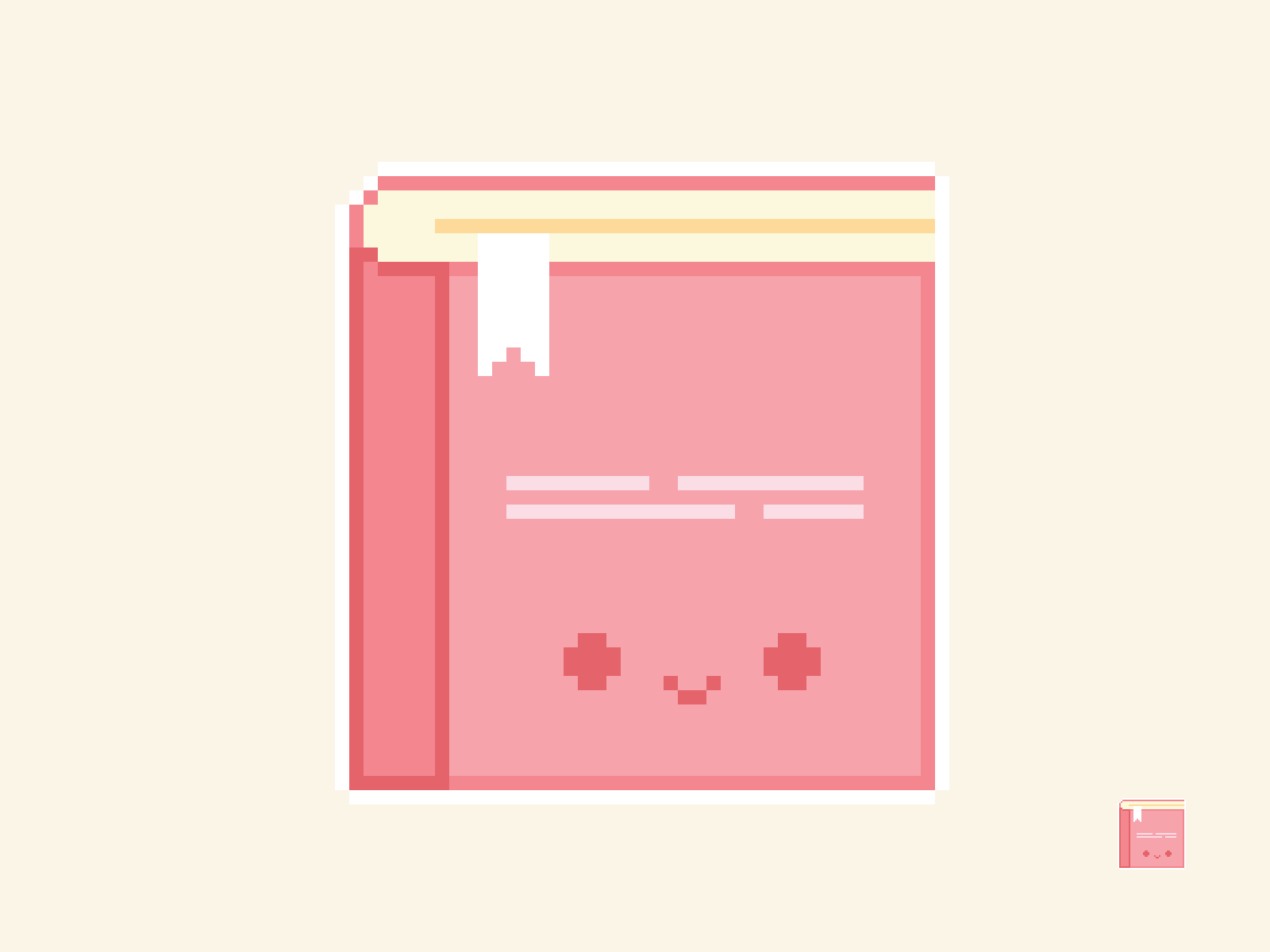 Cute Kawaii Book Pixel