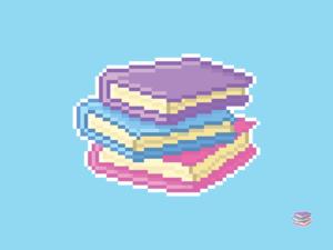 Book Stack Pixel