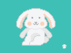 Cute Kawaii Bunny Rabbit Pixel